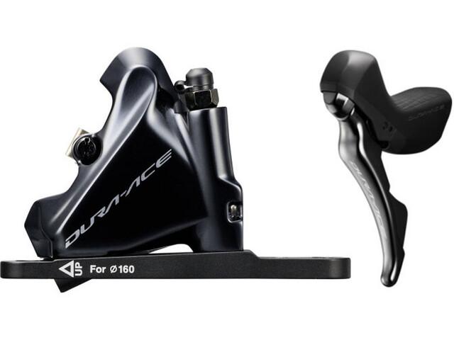 Shimano Dura-Ace Di2 ST-R9180/BR-R9170 Schijfrem voorwiel Flat-Mount, black
